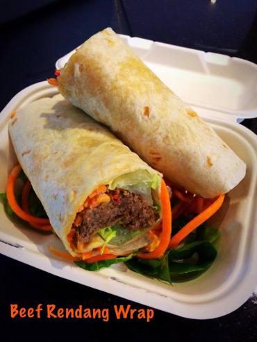 beef rendang wrap